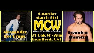 preview picture of video 'Brandon Thurston vs Alessandro Del Burno - MCW - Brantford'