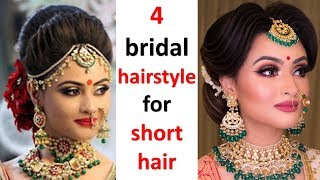 4 Most Beautiful Hairstyle For Bridal || Wedding Hairstyle || New Hairstyle || Easy Hairstyles