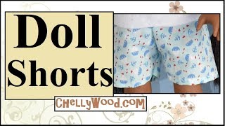 Free Doll Clothes Patterns: 18 Inch Dolls Shorts