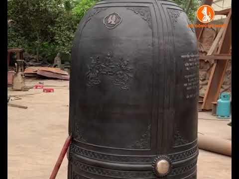 Thi công đúc chuông đồng 2000kg chùa Ba Sao để đón VESAS 2019