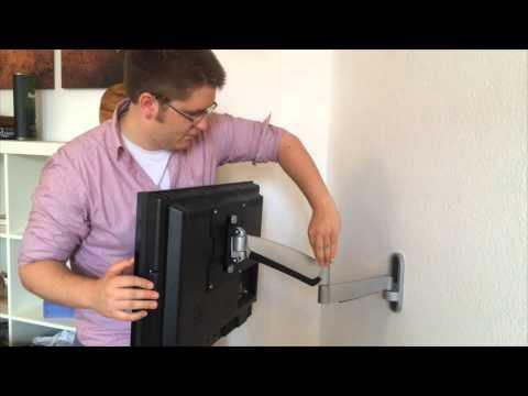 Montage/Installation der TV-Wandhalterung/tv mount High-Flex-200 von Störch