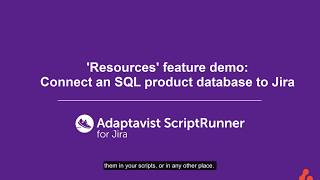 How to query an SQL database and display results in Jira | ScriptRunner for Jira