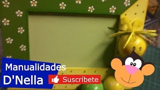 """Manualidades: Porta Retrato de Trupan - By: """"TallerDnella"""" 2013"""