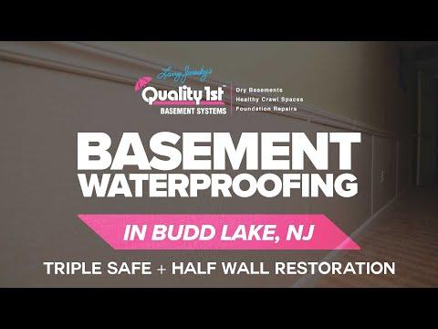 Basement Fully Waterproofed In Mt. Olive, NJ