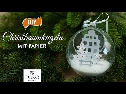 DIY-Weihnachtdeko: wunderschöne Christbaumkugeln mit Winterlandschaft [How to] Deko Kitchen (P)