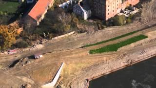 preview picture of video 'Przebudowa koryta Nysy Kłodzkiej Lewin Brzeski  X.2013'