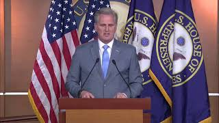 LIVE: House Republican leader Kevin McCarthy gives his weekly briefing, with 40 days until election