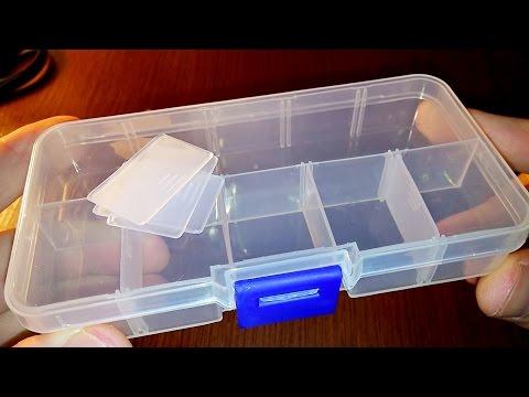 Пластиковый или пластмассовый контейнер (ящик) для хранения мелочей на 10 ячеек