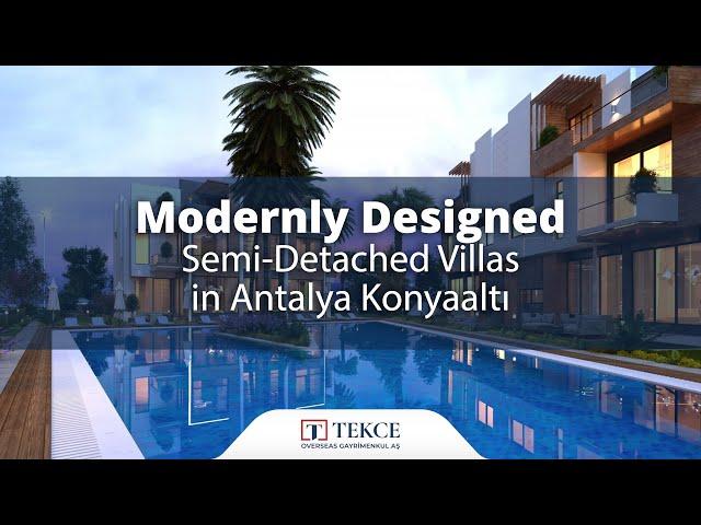 Konyaaltı Villas in Luxury Residential Complex