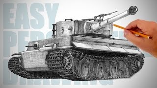 How To Draw A Tank  Easy Perspective Drawing 10