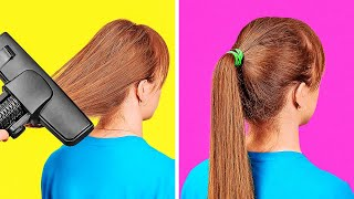 COOL HAIRSTYLES AND HAIR HACKS || Hair Hacks And Tips To Look Gorgeous In Any Situation