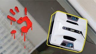 Робот мойщик окон против очень грязного окна и улик преступления! Hobot 2S