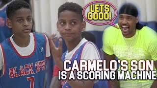 Carmelo Anthony IMPRESSED Watching HIS SON!! Kiyan Anthony is a BUCKET!
