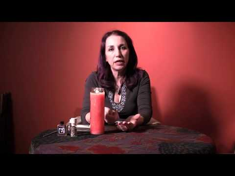 Dress a Hoodoo Vigil Candle for a Love Spell - Hoodoo How To with Madame Pamita