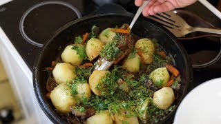 Свиные рёбрышки с картошкой по татарски в казане.Как сытно и вкусно накормить голодных мужиков