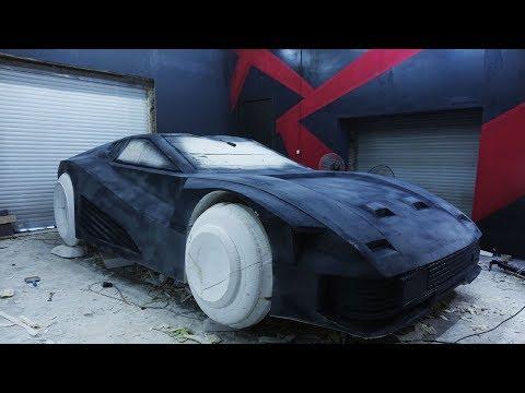 Quadra V-Tech из Cyberpunk 2077. Подготовка макета для снятия матрицы видео