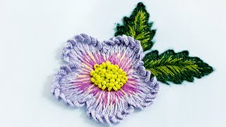 51-Hand Embroidery |Brazilian Embroidery |flower Embroidery| No Sound