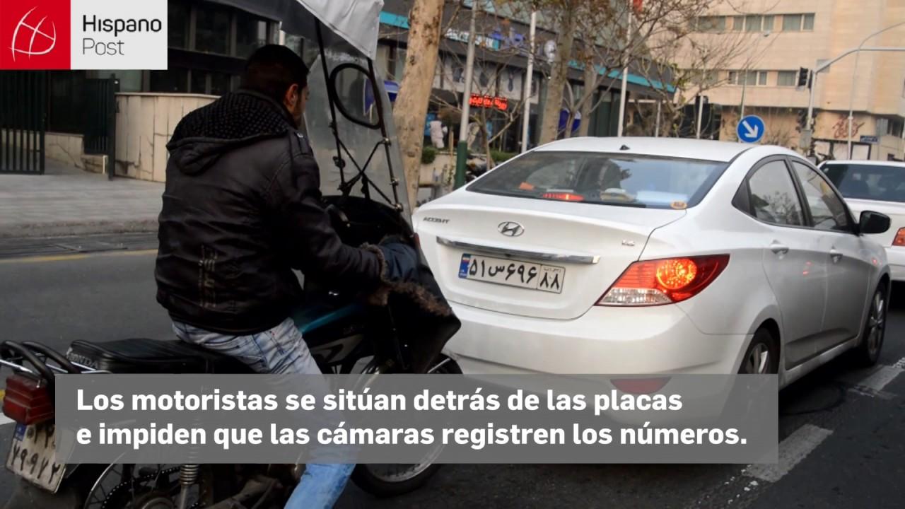 Irán: Motoristas tapan matrículas de autos para evitar multas