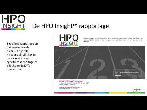Hoe werkt het HPO Insight verbetertool