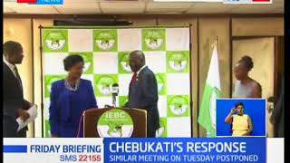 IEBC Chairman Wafula Chebukati dismisses the resignation of Vice Nkatha and other Commissioners