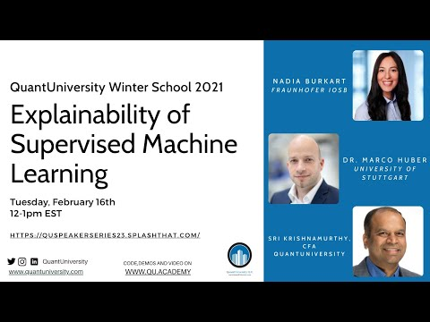 Explainability of Supervised Machine Learning Lecture