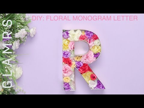 DIY Room Decor: Floral Monogram Letter – Easy DIY Tutorial   Wall Decoration Ideas