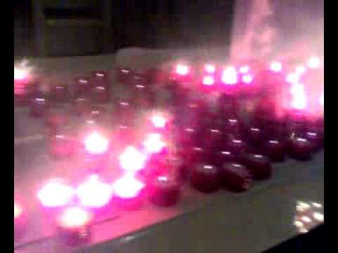 Sollievo di candele durante un secolo