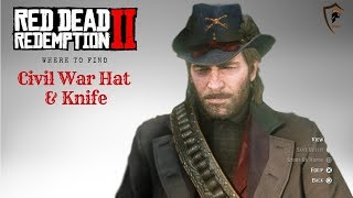 Civil War Army Cavalry Hat and Civil War Knife Location in Red Dead Redemption 2