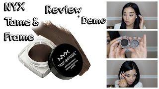 NYX Tame & Frame Brow Pomade Demo + Review