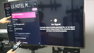 How to enter LG hotel mode setting? / LG commercial display - Obedience