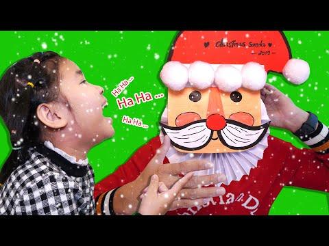 Bố Tự Làm Ông Già Nô En Cho Bé Bún Chơi Giáng Sinh | DIY Santa Claus From Paper Craft
