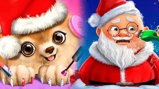 НОВОГОДНИЕ Мультики для детей НАРЯДЫ и ПРИЧЕСКА для ДЕДА мороза Смешное видео Игра для малышей