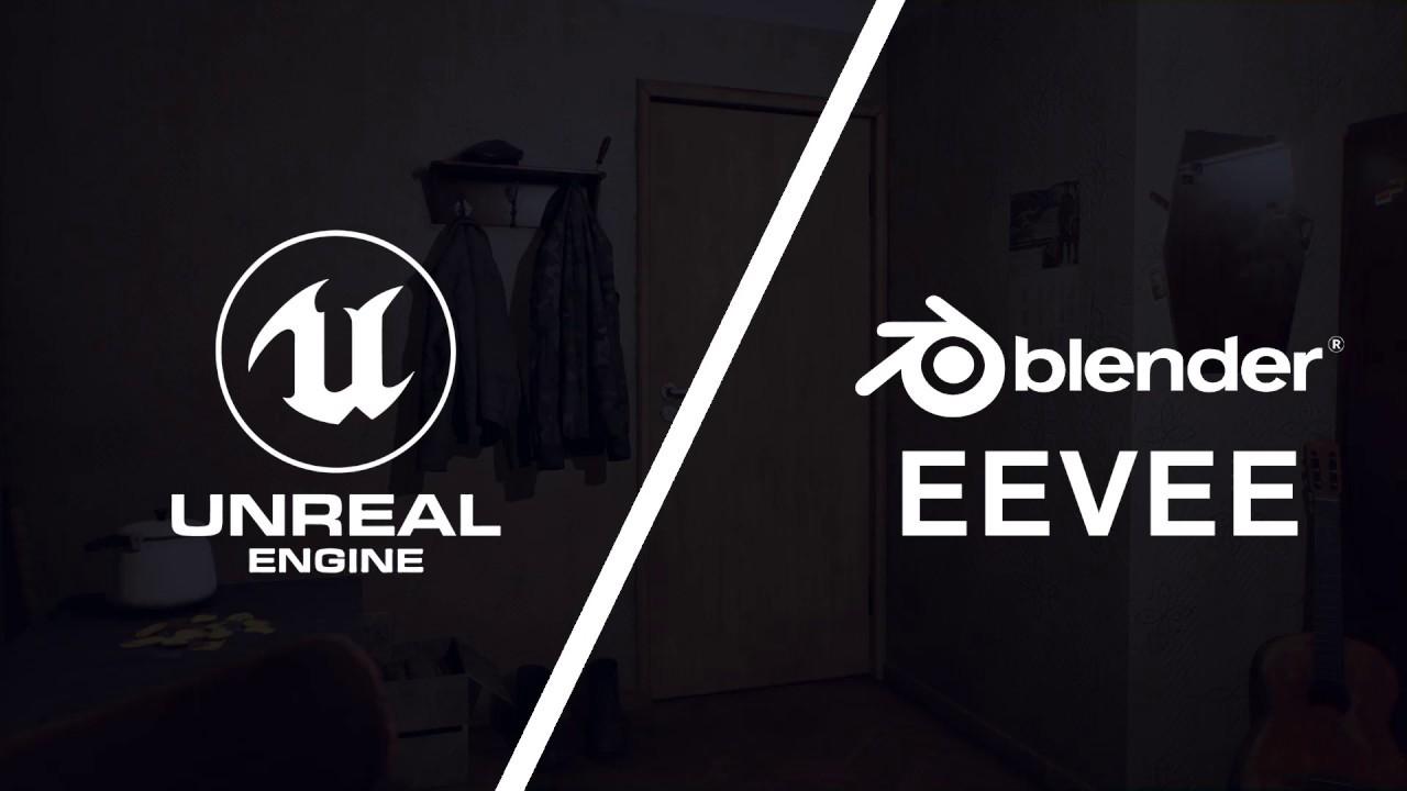 Unreal Engine vs Blender EEVEE / USSR environment (soviet scene)