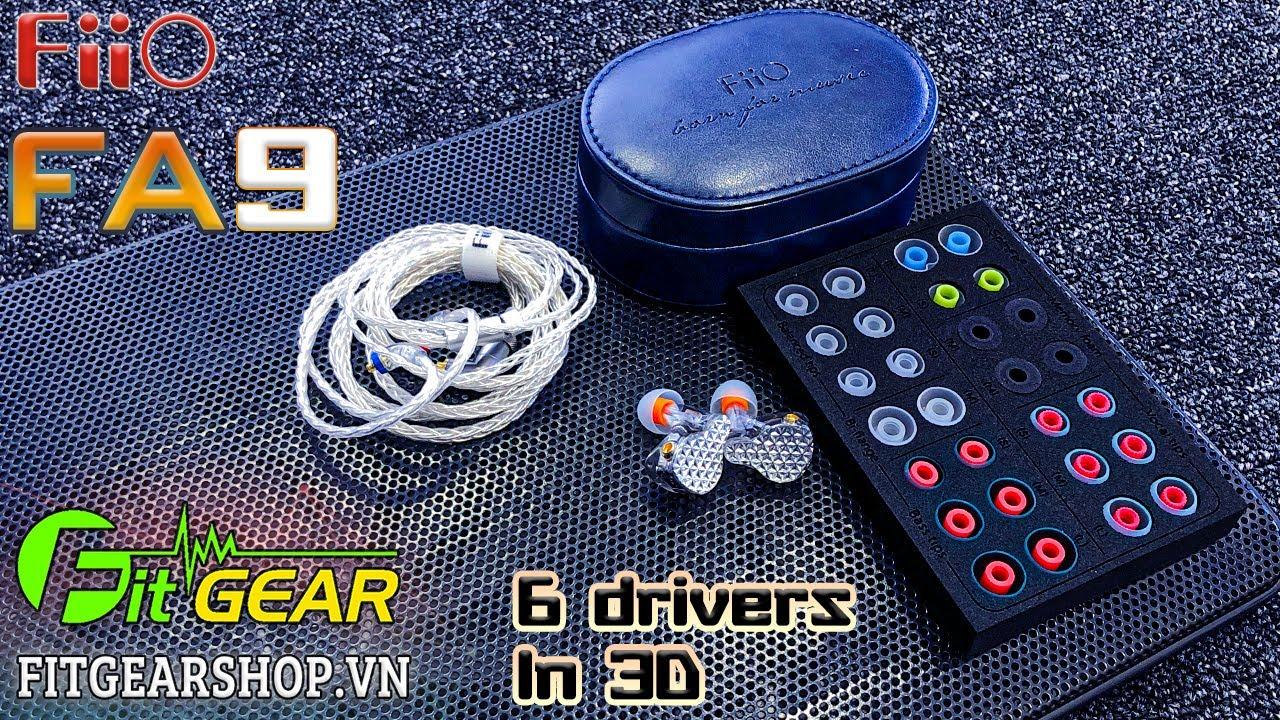 FiiO FA9 | Sở hữu tận 6 Driver Knowles, có thể  điều chỉnh chất âm trực tiếp trên tai nghe