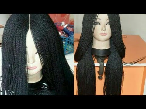 How To Make A Million Braid Wig Without Closure From Start To Finish / Beauty Hauljj