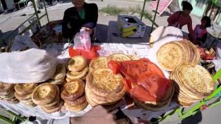 Восточный базар Казахстана \ Лепёшка из Тандыра в Жаркенте \ Путешествия в Казахстан