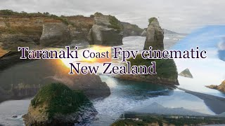Cinematic Fpv Taranaki coast New Zealand .