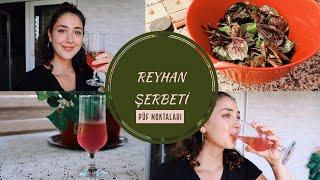 En sevdiğim içecek | Reyhan Şerbeti Nasıl Yapılır?