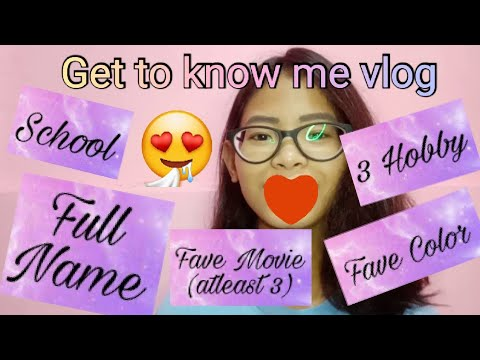 Get to know me vlog    Marianne Ocampo