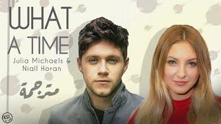 Julia Michaels - What a Time Ft. Niall Horan | Lyrics Video | مترجمة