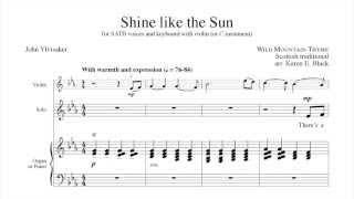 Shine like the Sun - arr. Karen E Black
