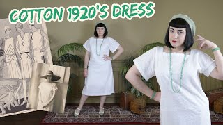 Making And Styling A 1920s Cotton Dress // Twenties Styling Challenges