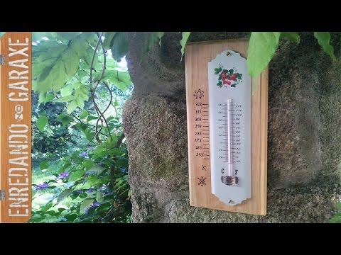 Soporte para termómetro de pared