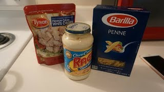 HOW TO MAKE CHICKEN ALFREDO UNDER $5!!