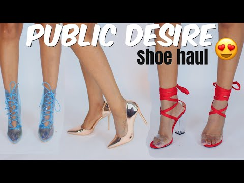 Public Desire Shoe Try On Haul!