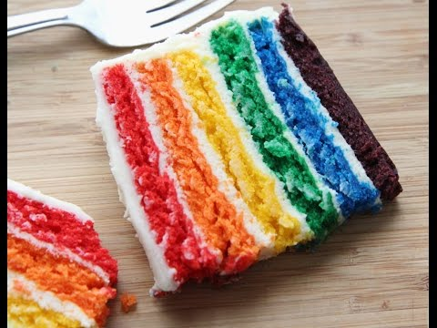 Video How to Make A Rainbow Cake (Easy, From-Scratch Recipe)