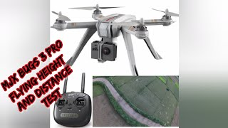 Mjx Bugs 3 pro drone flying height and distance test, mjx bugs 5g wifi camera range test