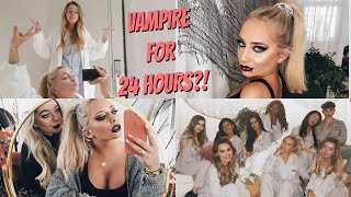 BEING A VAMPIRE FOR 24 HOURS! Easy Halloween GRWM ad