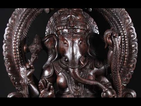 SOLD Large Wooden Dancing Ganesh on Kalinga 80