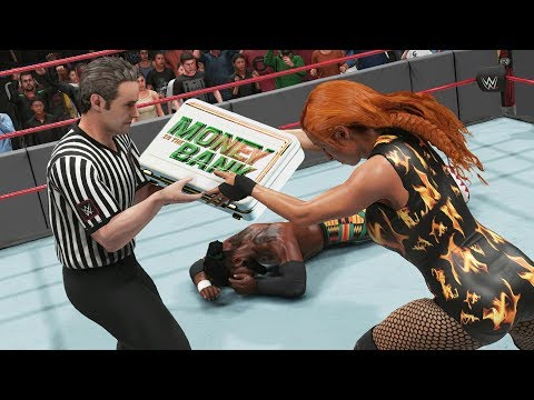 WWE 2K19 What Happens if a DIVA Cashes in On The Men's WWE Champ?